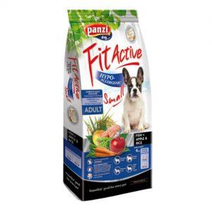 Panzi FitActive Hypoallergenic Small Fish Adult (hal,rizs,alma) száraztáp - Ételallergiás kistesű felnőtt kutyák részére (4kg)
