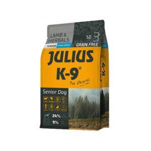 Julius K-9 Utility Dog Hypoallergenic Lamb,herbals Senior (bárány,gyógynövény) száraztáp - Idős,túlsúlyos kutyák részére (3kg)