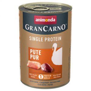Animonda GranCarno Adult (single protein) konzerv - Felnőtt kutyák részére, pulykahússal (400g)